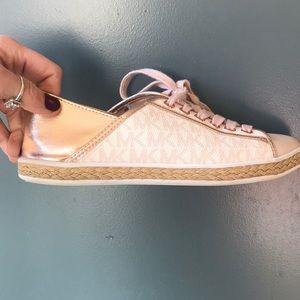 Michael Kors pale pink sneakers